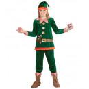 el pequeño elfo ayudante de santa  (abrigo, panta