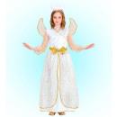 Engel (Kleid, Flügel, Halo), Größe: (128 cm / 5-