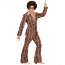 70s man suit old school (jacket, pants), Size: (