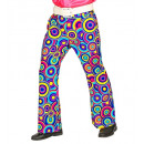 wholesale Trousers: 70s man pants bubbles blue, Size: (L/XL) - for