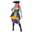pirate captain (dress with shirt, hat), Size: (L