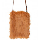brown plush handbag , Hat size: 0 - for women