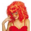 maschera glitter con parrucca 3 colori ass. - Pe