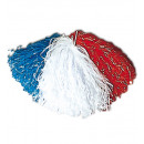 Großhandel Verkleidung & Kostüme: Tricolor Pompons blau / weiß / rot - für Erwachs