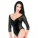 wholesale Erotic Clothing:  black velvet and  lace leotard , Size: (M) -  for