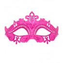 roze Venetië oogmasker met glitter en strass -