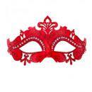 rot venedig eyemask mit Glitter und Strass -