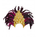 salvador show feather headdress, Hat size: 0 - fo