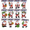 Kerstmansticker van de Kerstman 12 stijlen a