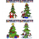 wholesale Decoration: christmas tree window sticker 4 styles assorted