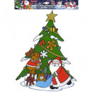 wholesale Decoration: christmas tree with santa claus &reindeer window