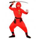 Großhandel Fashion & Accessoires:  Red dragon ninja   (mit Kapuze Mantel, Hose, Gürte