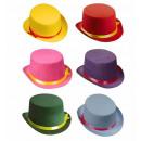 mayorista Juguetes:  sombrero de copa   sentían - 6 colores ass. - Tama