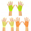 wholesale Toys: neon fingerless fishnet gloves 3colors assorted,