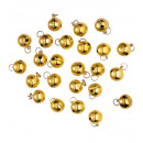 wholesale Decoration: set of 24 decorative bells ø 15 mm, Hat size: 0