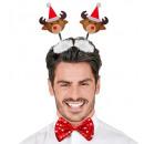 groothandel Woondecoratie: rendierenhoofdkippe rs met kerstmuts - fo