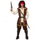 wholesale Costume Fashion:  pirate  (coat  with shirt, pants, belt, sword sash