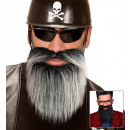 beard with moustache 2 colors assorted, Hat size