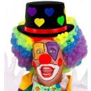hoge hoed met hartjes  voelde - 6 kleuren assorti