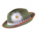 wholesale Toys: tyrolean hat with edelweiss & feathers felt, Hat