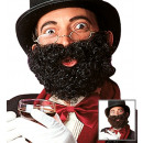 deluxe beard with moustache black & brown assort