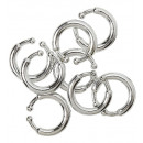 wholesale Piercing / Tattoo: set of 8 clip-on piercings - for adults / unise