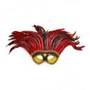 Maya eyemasks oro / nero di paillettes con la gem