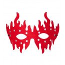 Großhandel Schals, Mützen & Handschuhe: Red besetzte eyemasks - für Erwachsene / unisex