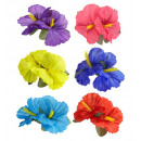 wholesale Gifts & Stationery: 2 hibiscus flowers hair clip 6 colors assorted,