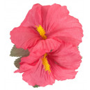 wholesale Drugstore & Beauty:  2 pink hibiscus  flowers hair clips  -  for women