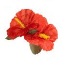 groothandel Feestartikelen: 2 rode hibiscus bloemen haarspeldjes - ...