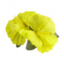 groothandel Feestartikelen: 2 gele hibiscus bloemen haarspeldjes - ...