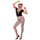 80's girl ( T-Shirt , leggings, collane), Ta