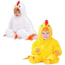 wholesale Decoration: fuzzy chick 2 colors assorted (hooded jumpsuit)