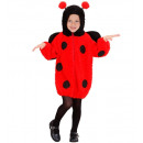 wholesale Coats & Jackets:  fuzzy ladybug   (hooded jacket), Size: (104 cm / 2