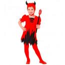 """""""diabeł"""" (sukienka, hełm), rozmiar: (110 cm / 3-4"""