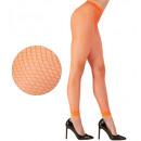leggings résille néon - orange, Taille: (Taille