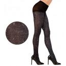 groothandel Speelgoed:  Zwarte glitter  panty  40 den, Afmeting: (XL) - fo