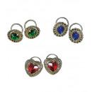 anelli con la gemma  set di 2 - stylesand colori