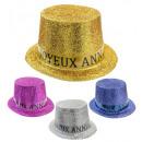 joyeux anniversaire top hat- 4 colours assorted, H