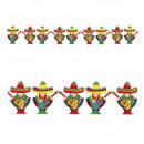 wholesale Toys: mariachi garland 3 m, Hat size: 0