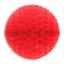 Chiny czerwona kulka papieru o strukturze plastra
