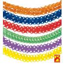 unicolor papier guirlande  4 m - 6 kleuren assort