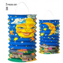 wholesale Gifts & Stationery: set of 2 moon paper lanterns h 28 cm - 2 styles