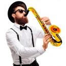 Großhandel Geschenkartikel & Papeterie:  Gold aufblasbare  Saxophon  55 cm - für Erwachsene