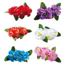 wholesale Gifts & Stationery:  4 hibiscus  flowers hair clip  6 colors assorted -