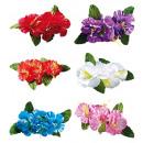 groothandel Feestartikelen: 4 hibiscus bloemen haar clip 6 kleuren assortime