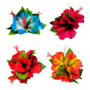 3 hibiscus  flowers hair clip  4 colors ass -  for