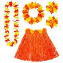 wholesale Toys: orange hawaiian set (hula skirtwith flower ...