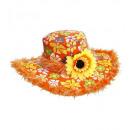 Cappello ibiza con finiture in felpa e girasole